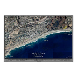 Cardiff by the Sea, California satellite poster