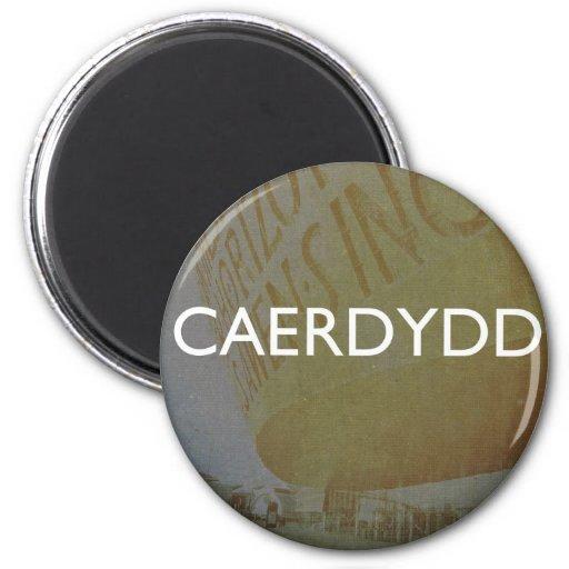 Cardiff - Caerdydd 2 Inch Round Magnet
