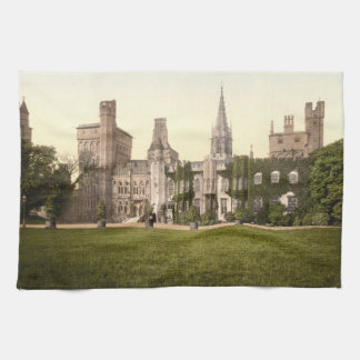 Cardiff Castle II Cardiff Wales Kitchen Towel