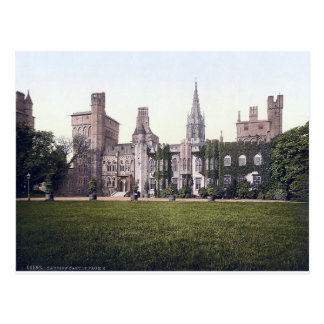 Cardiff Castle Vintage Wales postcard Postcard