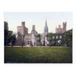 Cardiff Castle, Vintage Wales postcard Postcard