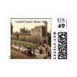 Cardiff Castle, Wales 1905 Postage Stamp