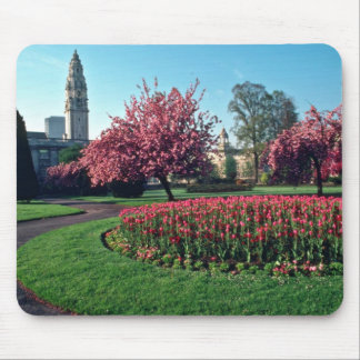 Cardiff City Hall From Alexandra Gardens flowers Mouse Pad