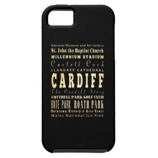 Cardiff City United Kingdom Typography Art iPhone 5 Covers