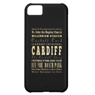 Cardiff City United Kingdom Typography Art iPhone 5C Cover