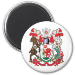 Cardiff Coat of Arms 2 Inch Round Magnet