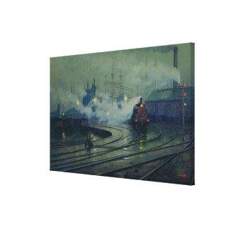 Cardiff Docks, 1896 Canvas Print