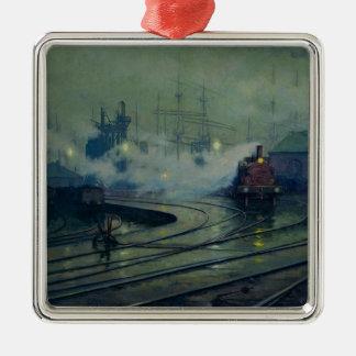 Cardiff Docks, 1896 Metal Ornament