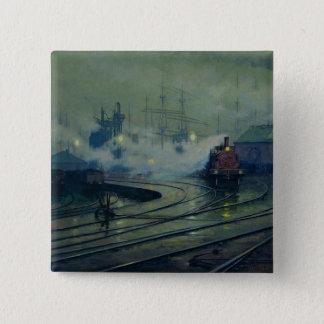 Cardiff Docks, 1896 Pinback Button