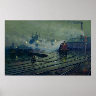 Cardiff Docks, 1896 Poster