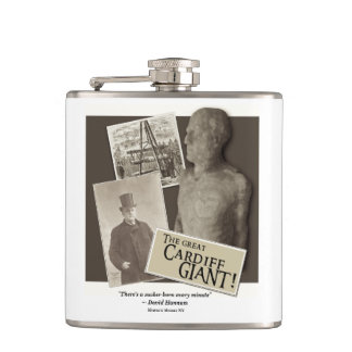 """Cardiff Giant """"Sucker Born Every Minute"""" Flask"""