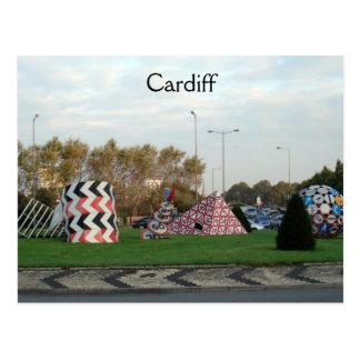 Cardiff Roundabout Postcard