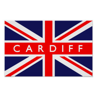 Cardiff UK Flag Poster