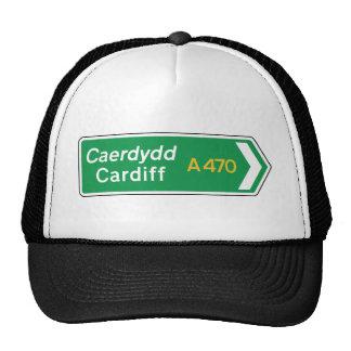 Cardiff, UK Road Sign Trucker Hat