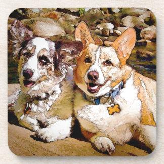 Cardigan and Pembroke Welsh Corgi Toon Coasters