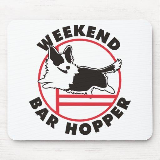 Cardigan Corgi Agility Weekend Bar Hopper Mousepads