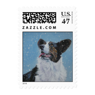 Cardigan Welsg Corgi postage stamp