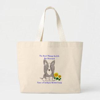 Cardigan Welsh Corgi Best Things In Life Tote Bag Jumbo Tote Bag