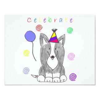 Cardigan Welsh Corgi Black Celebrate Card