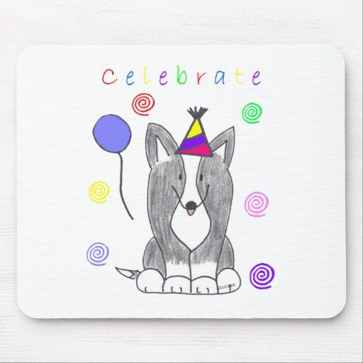 Cardigan Welsh Corgi Black Celebrate Mouse Pad