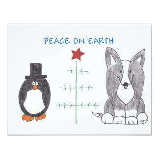 Cardigan Welsh Corgi Black Peace On Earth Card