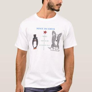 Cardigan Welsh Corgi Black Peace On Earth T-Shirt