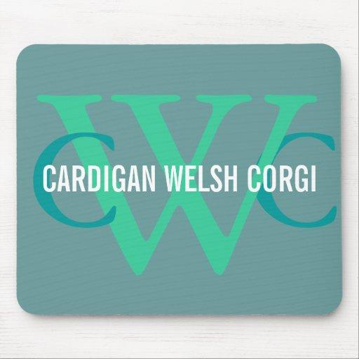 Cardigan Welsh Corgi Breed Monogram Mousepad