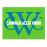 Cardigan Welsh Corgi Breed Monogram Postcard