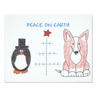 Cardigan Welsh Corgi Brown Peace On Earth Card
