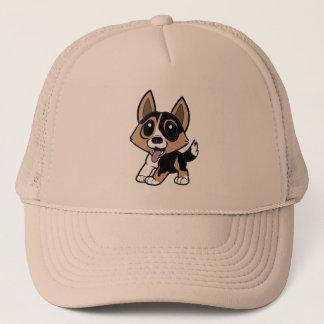 cardigan welsh corgi cartoon.png trucker hat