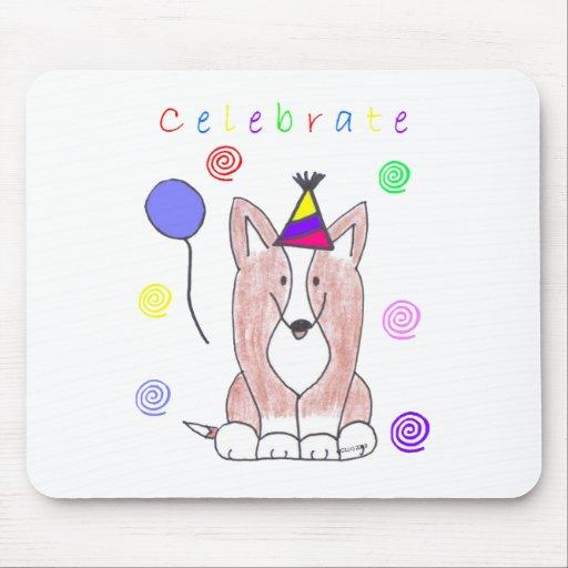 Cardigan Welsh Corgi Celebrate Mousepads