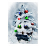 Cardigan Welsh Corgi Christmas Large Business Cards (Pack Of 100)