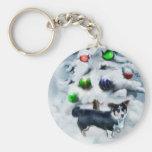 Cardigan Welsh Corgi Christmas Keychains