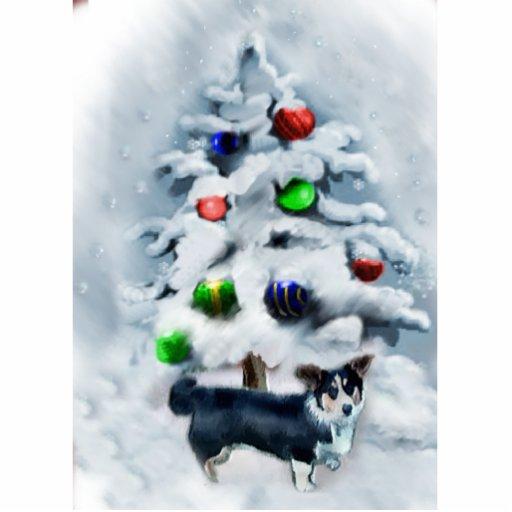 Cardigan Welsh Corgi Christmas Photo Cutout