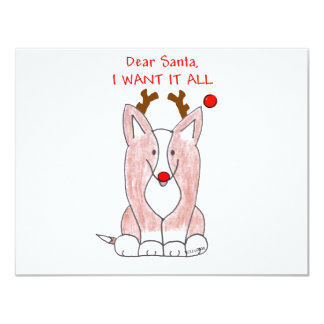 Cardigan Welsh Corgi Dear Santa Card