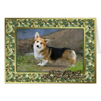 Cardigan Welsh Corgi Dog Blank Christmas Card