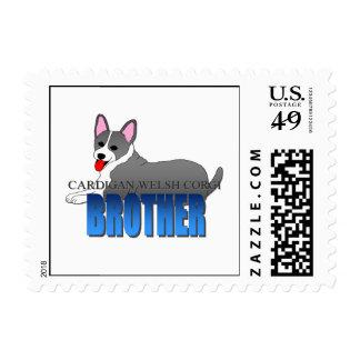 Cardigan Welsh Corgi Dog Brother Stamp