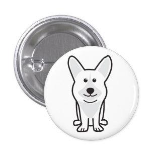 Cardigan Welsh Corgi Dog Cartoon Pinback Button