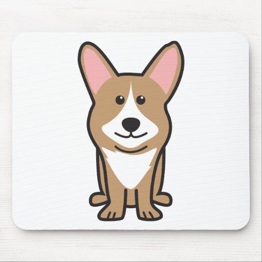Cardigan Welsh Corgi Dog Cartoon Mouse Pad
