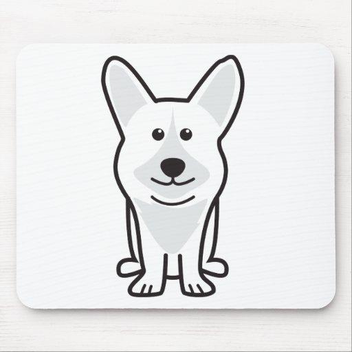 Cardigan Welsh Corgi Dog Cartoon Mousepads
