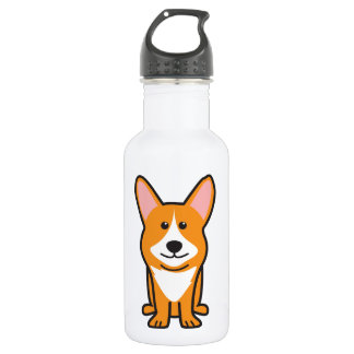 Cardigan Welsh Corgi Dog Cartoon 18oz Water Bottle