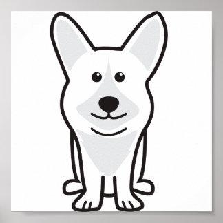 Cardigan Welsh Corgi Dog Cartoon Poster