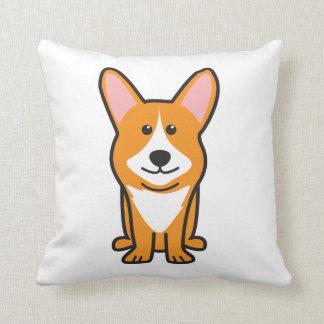 Cardigan Welsh Corgi Dog Cartoon Throw Pillow