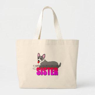 Cardigan Welsh Corgi Dog Sister Tote Bags