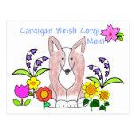 Cardigan Welsh Corgi Fawn Mom Postcard
