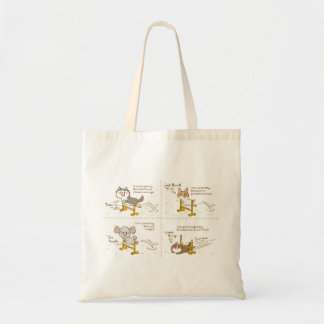 cardigan welsh corgi four-panel cartoon tote bag