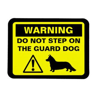 Cardigan Welsh Corgi Guard Dog Warning Rectangular Photo Magnet