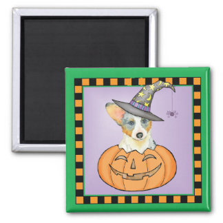 Cardigan Welsh Corgi Halloween Magnet