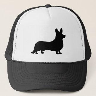 Cardigan Welsh Corgi in Silhouette Trucker Hat