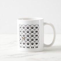 Cardigan Welsh Corgi in the Sheep Coffee Mug